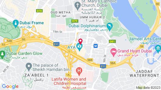 Sofitel Dubai The Obelisk Map