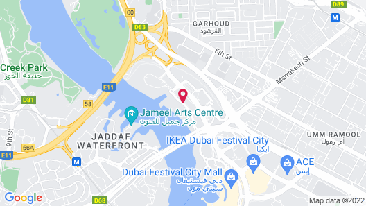 InterContinental Residence Suites Dubai Festival City, an IHG Hotel Map