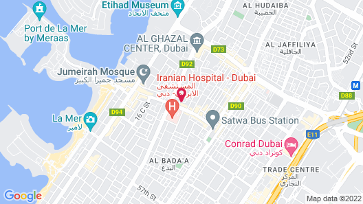 Al Khoory Executive Hotel Map