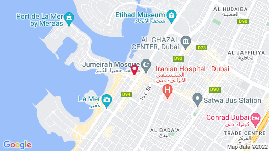 Dubai Marine Beach Resort & Spa Map