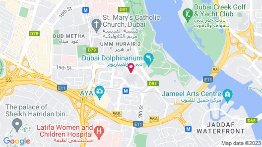 Hyatt Regency Dubai Creek Heights Map