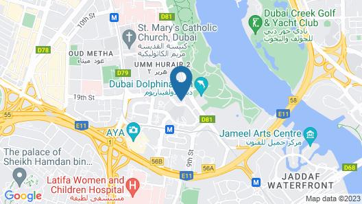 Hyatt Regency Dubai Creek Heights Residences Map