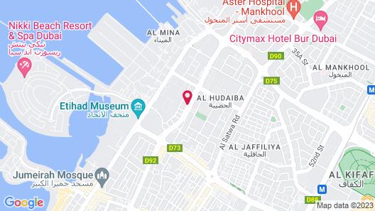 Mercure Gold Hotel Al Mina Road Dubai Map