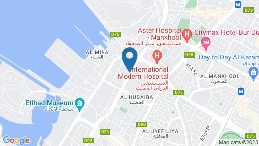 Hilton Garden Inn Dubai Al Mina Map
