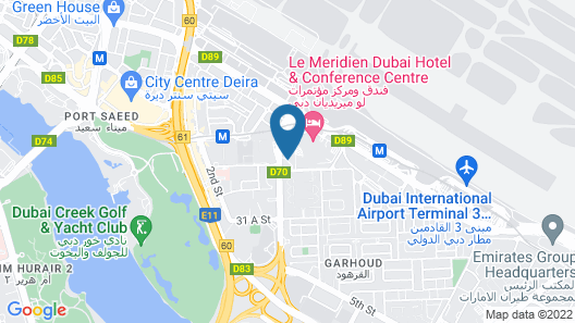 Mövenpick Grand Al Bustan Dubai Map