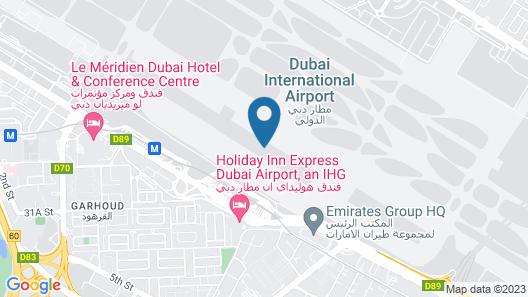 Dubai International Hotel, Dubai Airport  Map