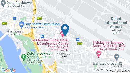 Le Meridien Dubai Hotel & Conference Centre Map