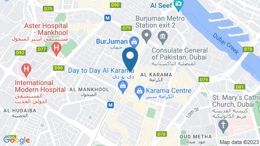 Park Regis Kris Kin Hotel Dubai Map