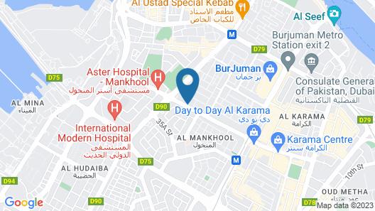 Grand Excelsior Hotel Bur Dubai Map