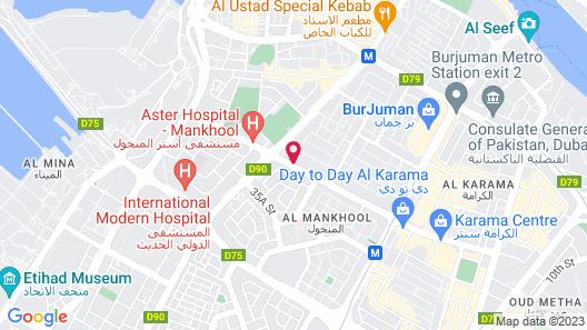 Citymax Bur Dubai Map