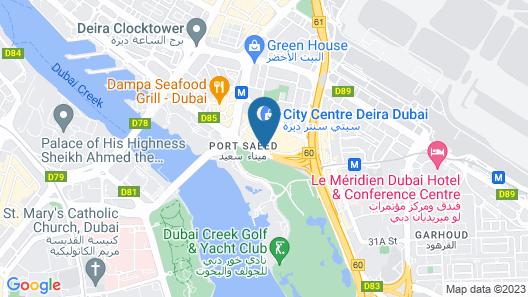 Aloft Dubai Creek Map