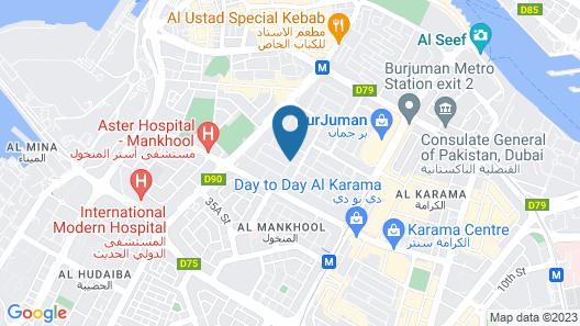 Golden Sands Hotel Apartments Map