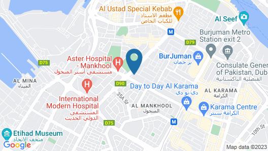 Suha Mina Rashid Hotel Apartments Bur Dubai Map