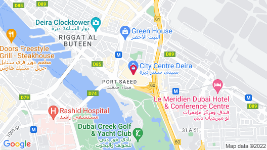 The Leela Hotel Deira Map