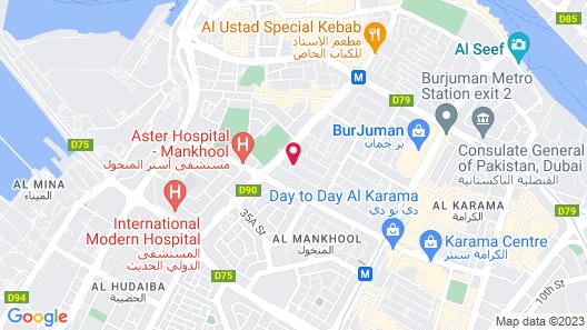 Four Points by Sheraton Downtown Dubai Map
