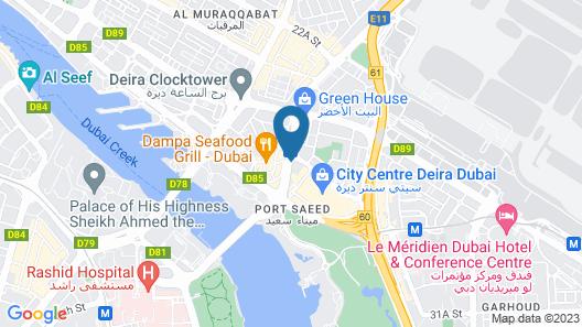 Tulip Creek Hotel Apartments Map