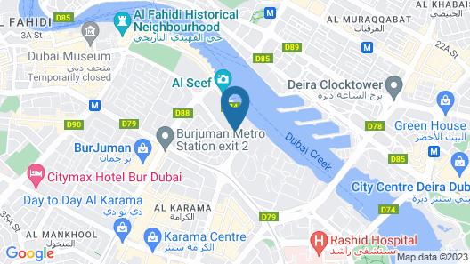 Hampton by Hilton Dubai Al Seef Map