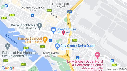 City Seasons Hotel Dubai Airport Map