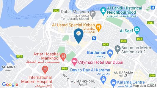 J5 Hotels Bur Dubai Map