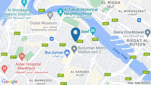 Holiday Inn Bur Dubai - Embassy District Map
