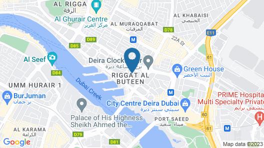 Marriott Executive Apartments Dubai Creek Map