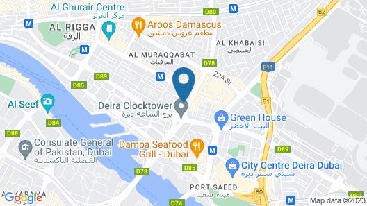 Aravi Hotel Map