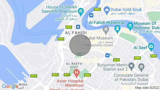 Male /Female dormitory available only in 50AED in burdubai Map