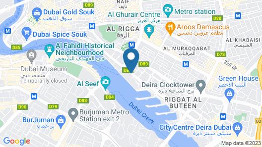 Sheraton Dubai Creek Hotel & Towers Map