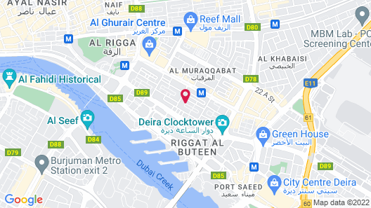 Jood Palace Hotel Dubai Map