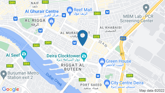 Avenue Hotel Map