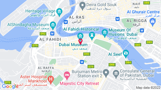 Arabian Courtyard Hotel & Spa Map