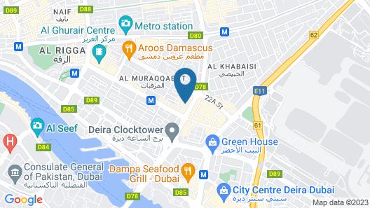 Hyatt Place Dubai Al Rigga Residences Map
