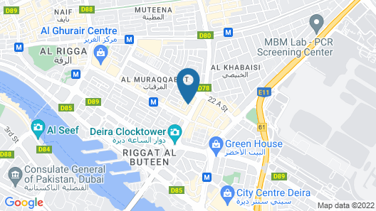 Hyatt Place Dubai Al Rigga Map