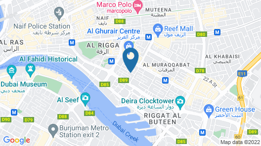 Zain International Hotel Map