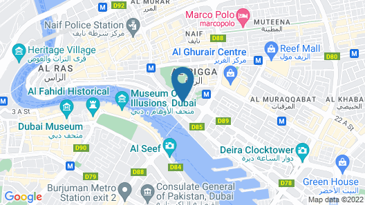 Radisson Blu Hotel, Dubai Deira Creek Map