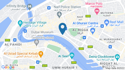 Riviera Hotel Dubai Map