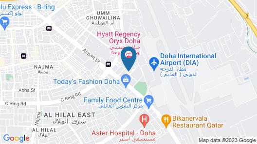 Hyatt Regency Oryx Doha Map