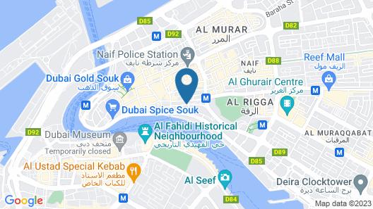 Hyatt Place Dubai Baniyas Square Map