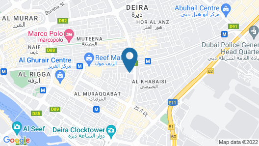 JW Marriott Hotel Dubai Map