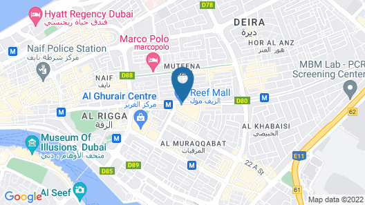 Star Metro Deira Hotel Apartments Map