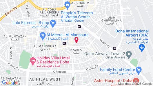 La Villa Suites Hotel Map