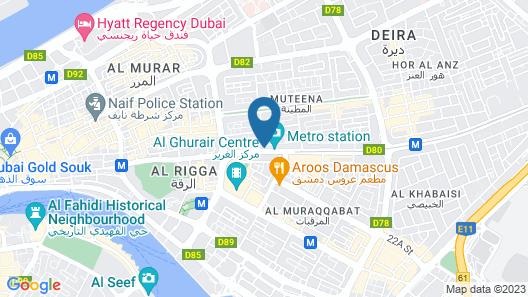 Royal Falcon Hotel Map