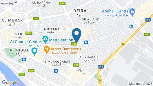 Avani Deira Dubai Hotel Map