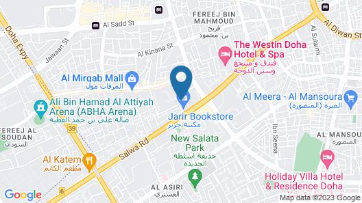 Gulf Pearls Hotel Map