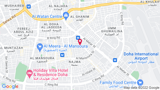 Crowne Plaza Doha - The Business Park Map