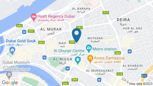 City Tower Hotel Apartments, Al Muteena - Deira Map