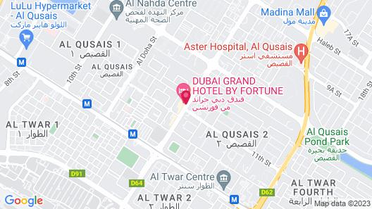 Dubai Grand Hotel by Fortune Map