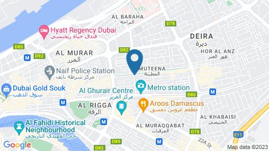 Dubai Palm Hotel Map