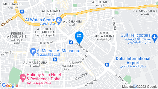 Millennium Central Hotel Doha Map