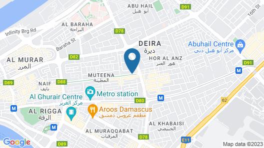Grand Excelsior Hotel Deira Map